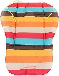 Beautiful Rainbow Striped Pad Baby Highchair Seat Cushion Waterproof Stroller Car Universal Cotton Mat