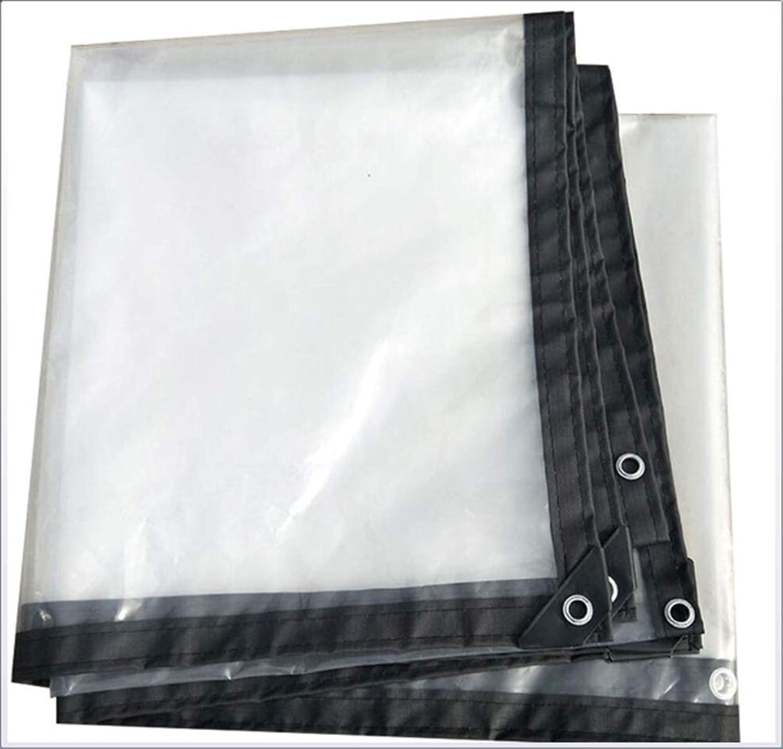 Waterproof Poncho, Transparent Thick Tarpaulin Outdoor Waterproof Sunshade Ripstop, Various Sizes,1x1m