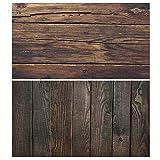 Huyiko - Fondo de pared de madera, 56 x 88 cm, doble cara de madera, grano de cemento, diseño vintage