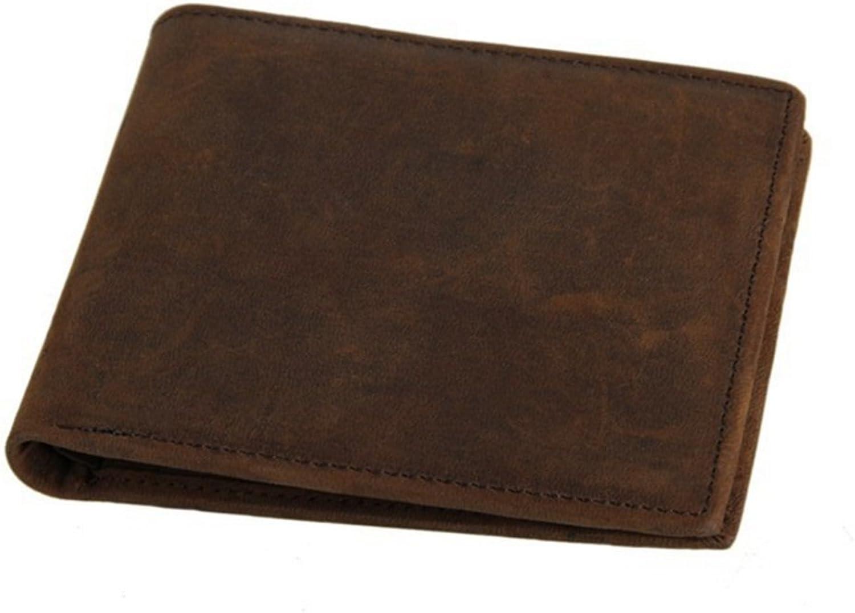 Peggy Peggy Peggy Gu Herren Brieftasche Geldbörse Männer Crazy Horse Leder Brieftasche Brieftasche Kurze Brieftasche Dunkelbraun Pale braun Karte Cashes   Geld-Organisator-Geschenke der Mä (Farbe   Braun) B07MBD6WQG d6e5a2