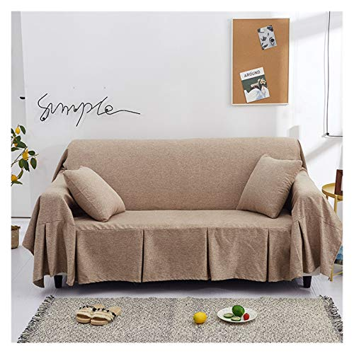 NEWRX Sofa Cover Chaise Longue Couch Cover Liebessitz Sessel Baby Bettwäsche Bettwäsche Casseure Recliner Case Bank Deck Chair Decke 3 Größen (Color : Color 2, Specification : 200x260cm)