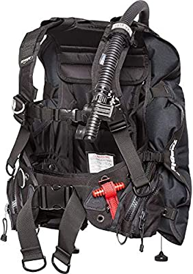 "Zeagle Stiletto BC BCD Rugged Rear Inflation Weight Integrated Scuba Dive Diving Diver Buoyancy Compensator, LARGE Waist 37-45"" Torso22-26"""