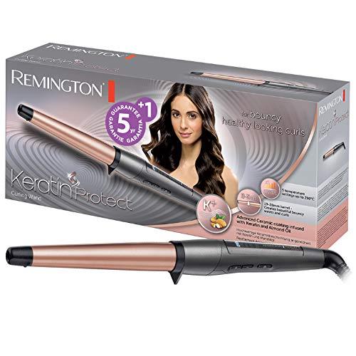 Remington Keratin Protect CI83V6 Ferro Conico Arricciacapelli, 19-28 mm, Rivestimento in Ceramica infuso di Cheratina e Olio di Mandorle, Spegnimento automatico dopo 60 min., Voltaggio Universale