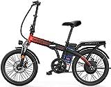 Bicicleta Eléctrica Bicicletas de 20 pulgadas de bicicletas de 20 pulgadas Bicicleta eléctrica plegable, bicicleta eléctrica de batería de litio de 48V 8AH de 48V 8Ah para adultos Ciudad de la ciudad,