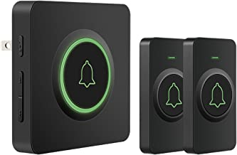 AVANTEK DB-21 Waterproof Wireless Doorbell Operating at Over 1300 Feet, 2 Remote Buttons Can Have Different Tones, 52 Melodies, CD Quality Sound and LED Flash