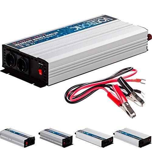 VOLTRONIC® MODIFIZIERTER Sinus Spannungswandler 2000W mit E-Kennzeichen, 24V auf 230V, USB, Stromwandler Inverter Wechselrichter Auto PKW