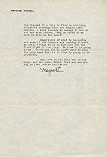 Margaret Mitchell - Typed Letter Signed 11/11/1941