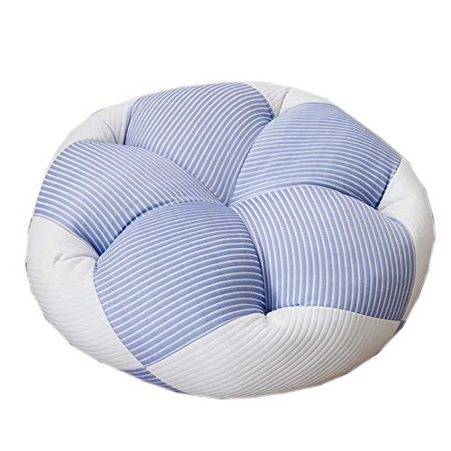 XQWZM Soft Comfortable Large Floor Cushion Pouf,Round Living Room Yoga Thick Meditation Cushion,For Home Sofa Bed Bay Window Car-A 68x68cm(27x27inch)