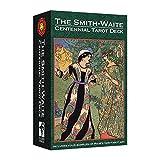 The Smith Waite Centennial Tarot Deck Tamaño estándar en inglés completo con guía de instrucciones impresa, folleto de adivinación Oracle Cards Fortune Telling Toy Games