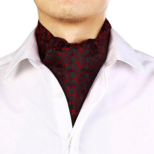 HAIPENG Männlich Seide Halstuch Schal Männer Drucken Frühling Und Herbst Mode Geschäftsschal, 7 Farben Wahlweise, 15x130CM Gentleman formelle Anlässe (Farbe : 1#)