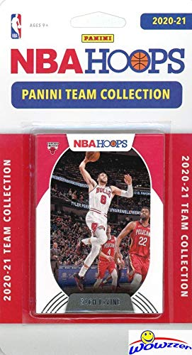 Chicago Bulls 2020/21 Panini Hoops NBA Basketball EXCLUSIVE Factory Sealed Limited Edition 9 Card Factory Sealed Team Set with Zach LaVine, Lauri Markkanen, Patrick Williams RC & Many More! WOWZZER!