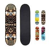 Skateboard completo per tricks double kick Osprey, principianti deck acero 31