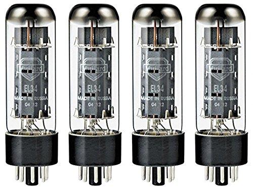 Mullard EL34 Power Vacuum Tube, Platinum Matched Quad