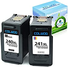 CLOWOD Compatible Ink Cartridge Replacement for Canon 240XL 241XL Used in Canon Pixma MG2120 MG3122 MG3220 MG3522 MX372 MX439 MX472 TS5120 Printers