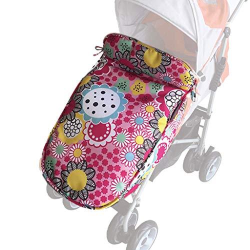 HGF Winter-Baby Fußsack, Sportkinderwagen Schlafsack Universal-Kinderwagen Decke - wasserdicht Decke für Buggy & Jogger mit praktischer Aufbewahrungstasche,Circle