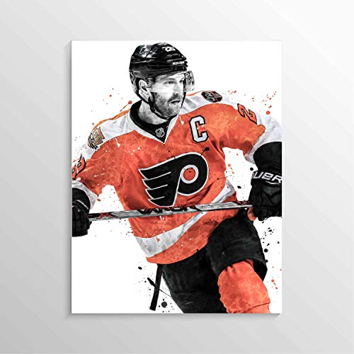 Claude Giroux Print, Claude Giroux Poster, Philadelphia Flyers Poster, Ice Hockey Art Print, NHL Decor, Man Cave Gifts, Sports Posters, Hockey Poster