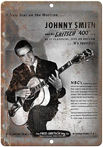 niet Johnny Smith Gretsch Gitaar Zeldzame Tin Metalen Teken Plaque Vintage Retro IJzeren Muur Waarschuwing Poster Decor Voor Bar Cafe Store Home Garage Office Hotel