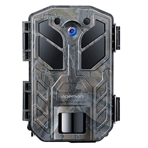 APEMAN Trail Camera 30MP 4K Hunting Camera 40PCs IR LEDs Game Camera for Crisp Night Shot & Vision up to 65ft IP66 Waterproof Design Wildlife Camera for Wildlife Hunting and Home Security