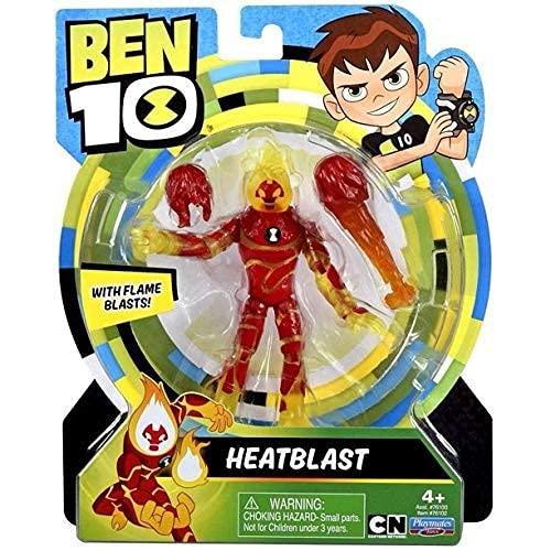 Ben 10 Heatblast Action Figure with Flame Blasts!