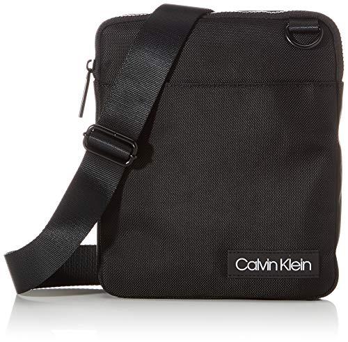 Calvin Klein ULTIMATE NYLON FLAT CROSSOVER, Uomo, Nero, OS