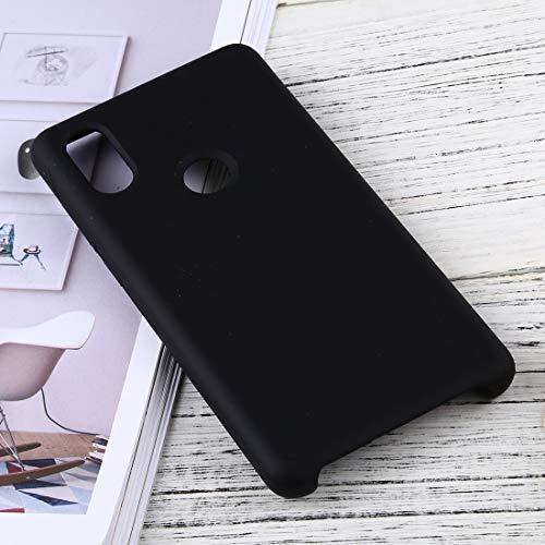 Phone case design for TL Solid Color Liquid Silicone Dropproof Schutzhülle for das Xiaomi Mi Mix 2S (Schwarz) xiaomi (Farbe : Black)