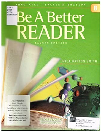 GLOBE FEARON BE A BETTER READER LEVEL B ANNOTATED TEACHER EDITION 2003C by GLOBE (2002-07-15)