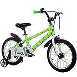 MLSH Bicicleta for niños de 3 a 6 años de Edad, niños y niñas, 14 Bicicletas de Acero de Alto Carbono de 16 Pulgadas, fácil Montaje en Forma...