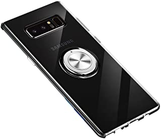 Samsung Galaxy Note 8 Case 360 Metal Rotating Ring with Kickstand Holder Magnetic Car Mount Soft TPU Case Shockproof Cover...