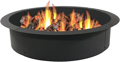 high quality Sunnydaze Wood Burning Outdoor Fire Pit wholesale Ring / Liner - Heavy Duty - DIY Above or In Ground Fire Ring Kit - 45 Inch Outside x 39 Inch discount Inside online