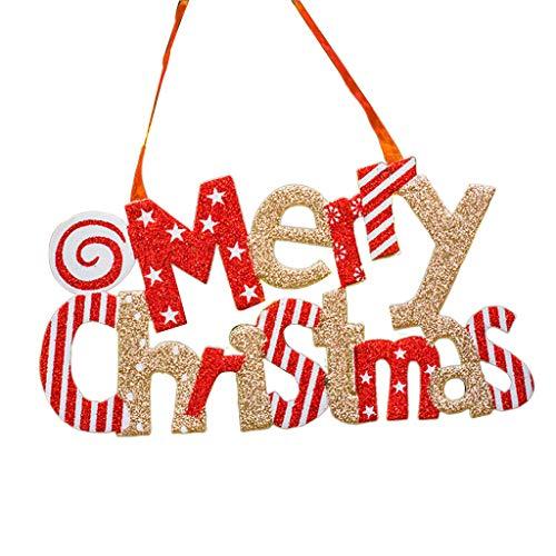 Yuanshenortey Christmas Decoration 30cm Merry Christmas Glitter Ornaments Party Supplies Festival Embellishments