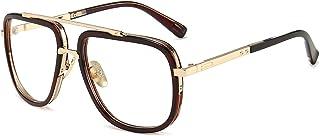 نظارة شمسية مربعة كبيرة الحجم للرجال والنساء بإطار ذهبي نظارات ريترو
