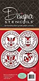 US Military Seals Cookie Stencil Set C1009 by Designer Stencils
