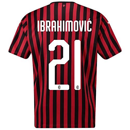 Ibrahimovic #21 AC Milan Home Soccer Jersey- 2019/20 (M) Red/Black