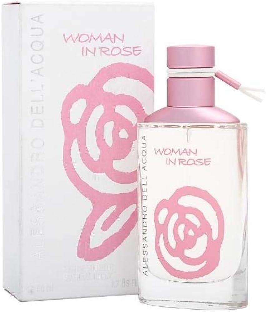 Alessandro dell acqua, woman in rose, eau de toilette,profumo per donna, 50 ml spray 8011003101405