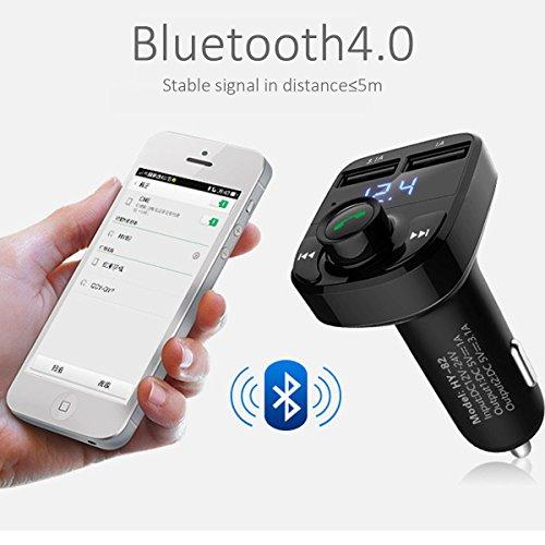 Flycoo Bluetooth Transmetteur FM pour Voiture LED écran MP3 Lecteur San Fil Main-Libre Soutien USB TF Card Chargeur