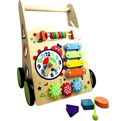 Artikelbild Lauflernwagen Lauflernhilfe Baby Laufwagen Gehfrei Holz Walker Lauflerner Kinder