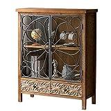 Mueble Vitrina Madera Puertas Cristal Diseño Rustico Antiguo 120 cm