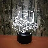 Chariot de golf 3D veilleuse lampe de table de chevet LED lumière 7 changement de couleur tactile télécommande décoration de la maison anniversaire pour enfants nouveauté cadeau de Noël du nouvel an