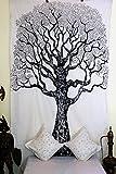 Stylo Culture Tapiz para colgar en la pared, diseño de mandala indio, color negro, con diseño de mandala