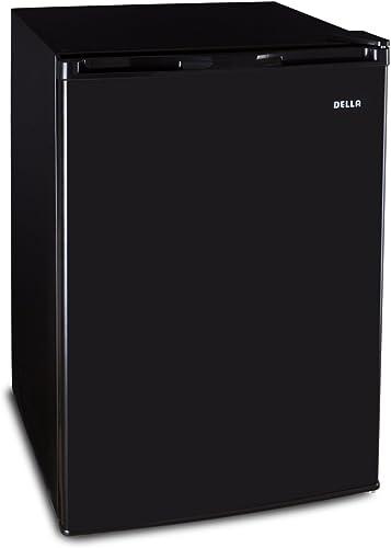 2021 Della Deep Upright Electric Mini Refrigerator Freezer 4.5 Cubic Feet Compact RV Home lowest Fridge Reversible Door, high quality Black online