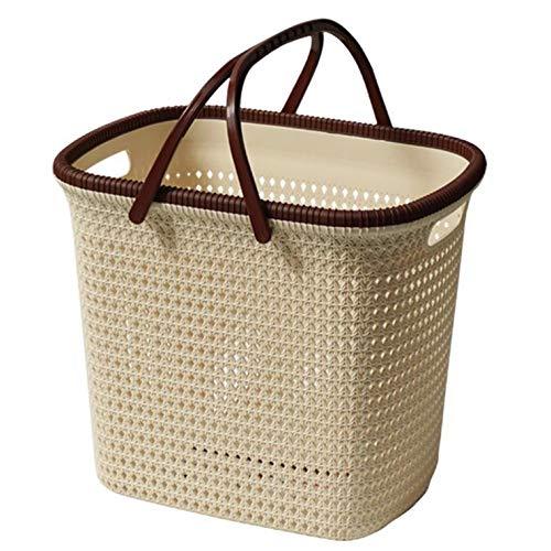 Nobran Vine Picknickkorb, tragbar, Einkaufskorb, Picknickkorb, Einkaufskorb, Ikea, gewebte Körbe, Obst, Snacks, Spielzeugkorb