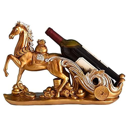 ZLQBHJ Estante de vino de resina, botellas de vino Freestanding Resin Barrel Barrel Holde, estanterías de vinos encimera, estante de muebles de almacenamiento de vinos, organizador de estantería de al