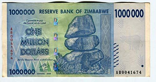 2008 - Reserve Bank of Zimbabwe $1 Million Dollars Seller Circulated (Various Grades)