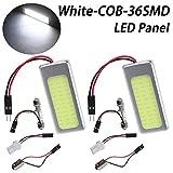 TABEN - 2 luces led COB de bajo consumo 36-SMD superblancas para techo interior del coche,...