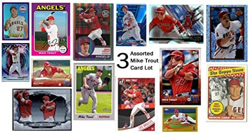 Mike Trout 3 Assorted Baseball Trading Card Lot Bundle from Los Angeles Angels of Anaheim product image