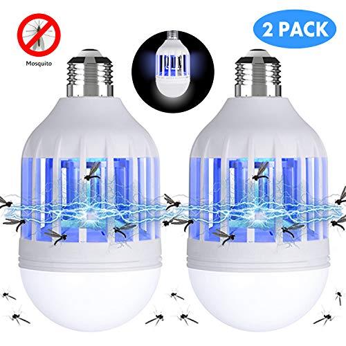 Gvoo - Juego de 2 lámparas LED antimosquitos, 2 en 1, E27,
