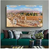 A&D Abstrakte Leinwand Malerei Bunte Fiddler In Jerusalem