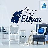 Etiqueta engomada de la pared del vinilo del bebé del elefante para la decoración del dormitorio de la oficina de la sala de estar del cuarto de niños de la ventana de la esquina