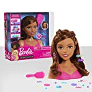 Barbie Fashionistas 8-Inch Styling Head, Brown Hair, 20 Pieces Include Styling Accessories, Hair Styling for Kids, by Just Play
