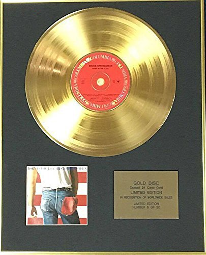 Century Music Awards Bruce Springsteen – Exklusiv Limited Edition 24 Karat Gold Disc – Born in The USA